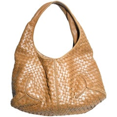 Bottega Veneta Tan Intrecciato Hobo Bag