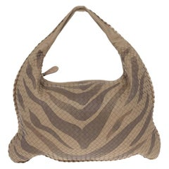 Bottega Veneta Tiger Intrecciato Woven Large Veneta Hobo Bag