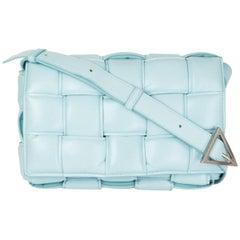 BOTTEGA VENETA Topazio blue leather PADDED CASSETTE Crossbody Shoulder Bag
