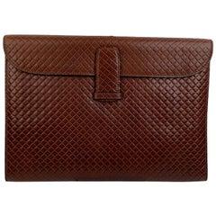 Bottega Veneta Vintage Brown Embossed Portfolio Work Bag