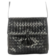 Bottega Veneta Vintage Intrecciato Tassel Crossbody Bag