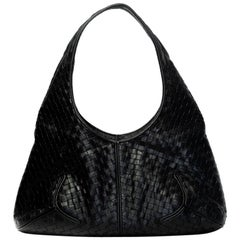 BOTTEGA VENETA VINTAGE leather black jodie Original Small size $3500