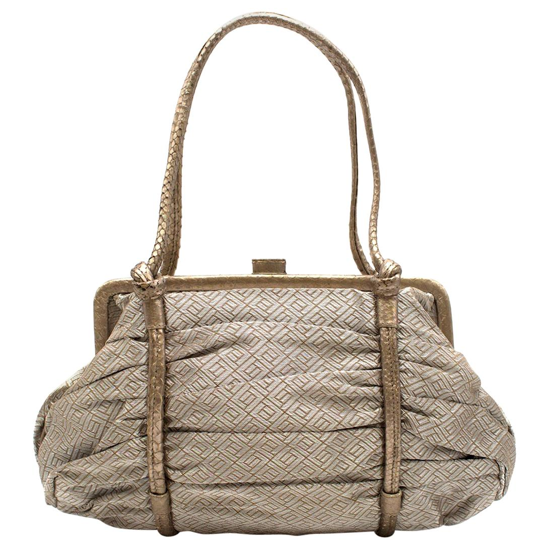 Bottega Veneta Vintage Metallic Top Handle Bag