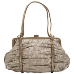 Bottega Veneta Vintage Metallic Top Handle Bag One size