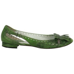 Bottega Veneta Woman Ballet flats Green EU 37