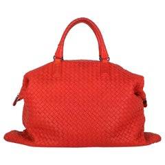 Bottega Veneta Woman Handbag Convertible Red Leather