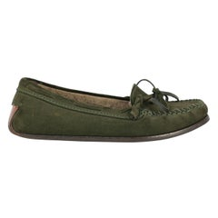 Bottega Veneta Woman Loafers Green Leather IT 37