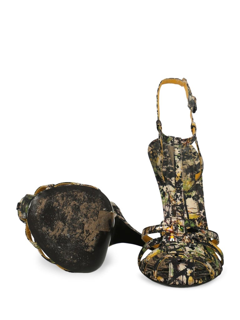 Women's Bottega Veneta Woman Sandals Black Fabric IT 39.5