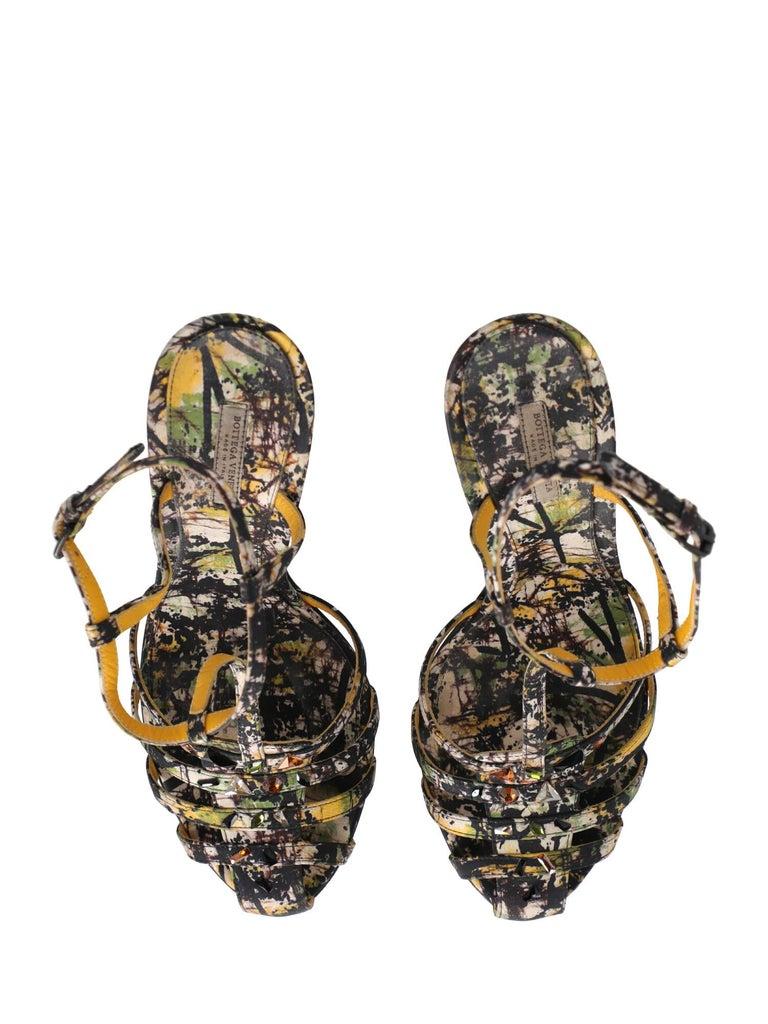 Bottega Veneta Woman Sandals Black Fabric IT 39.5 1