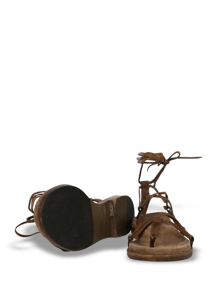 Women's Bottega Veneta Woman Sandals Brown Leather IT 37