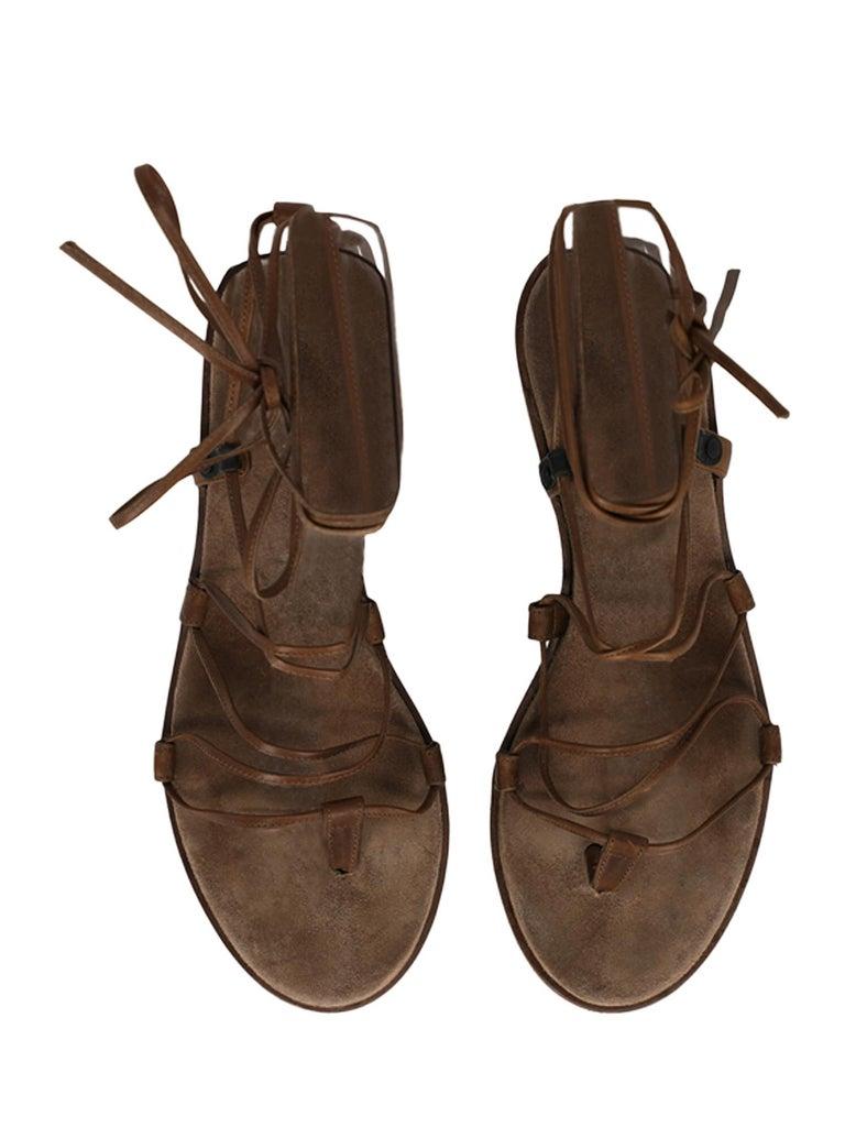 Bottega Veneta Woman Sandals Brown Leather IT 37 1