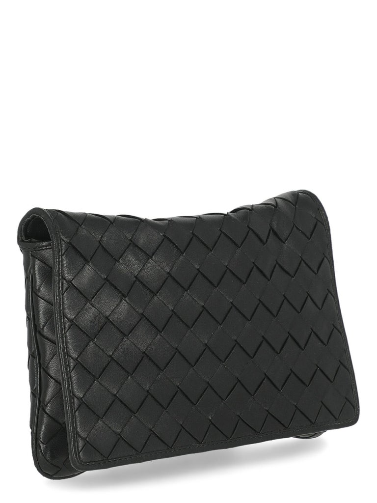 Bottega Veneta Woman Shoulder bag  Black Leather In Good Condition In Milan, IT
