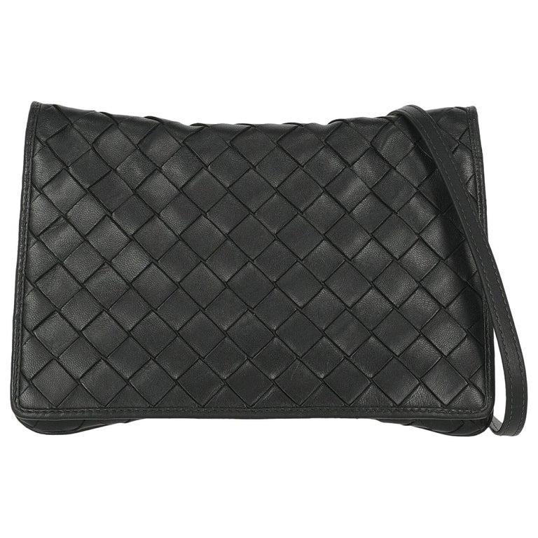 Bottega Veneta Woman Shoulder bag  Black Leather