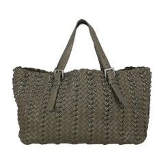 Bottega Veneta Women's Handbag Grey Leather