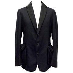 Bottega Veneta Wool and Cashmere Blend Blazer - Size L EU 50