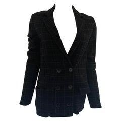 Bottega Veneta Wool Double-Breasted Black and White Blazer