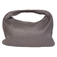 BOTTEGA VENETA Woven Hobo Jodie Medium shoulder bag Vintage Taupe Stone $4500