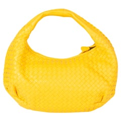 BOTTEGA VENETA yellow INTRECCIATO BELLY VENETA MEDIUM Hobo Shoulder Bag