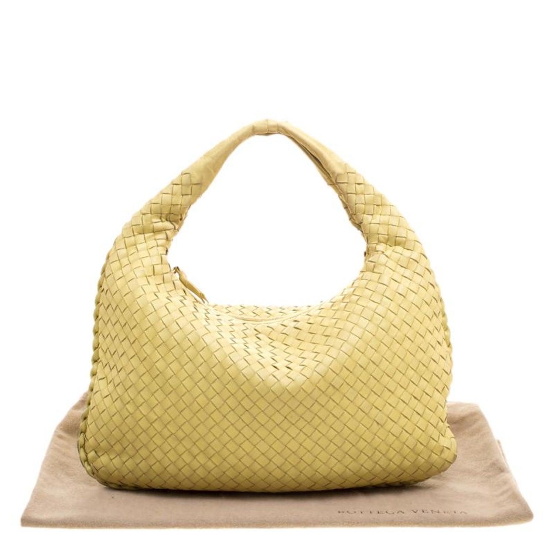 97ac5f4fe7 Bottega Veneta Yellow Intrecciato Leather Small Hobo For Sale at 1stdibs