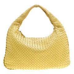 Bottega Veneta Yellow Intrecciato Leather Small Hobo