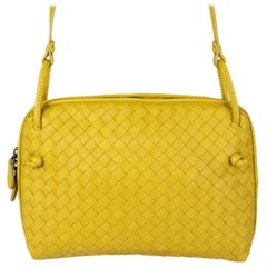 BOTTEGA VENETA yellow leather INTRECCIATO NODINI Crossbody Shoulder Bag
