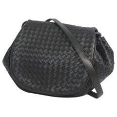 BOTTEGAVENETA BOTTEGA VENETA cross body Intrecciato flap shoulder bag 245342 bla