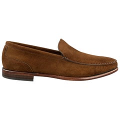 BOTTICELLI Size 10 Brown Solid Suede Slip On Loafers