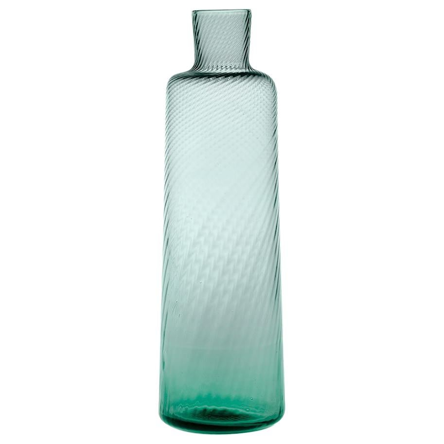Bottle30, Bottle Glass Handcrafted Muranese Glass, Baltic Twisted MUN by VG