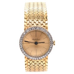 Bouche Girod 18 Karat Yellow Gold Vintage Ladies Diamond Watch