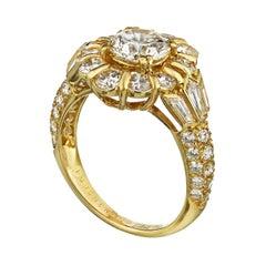 Boucheron 1.02 Carat Round Diamond F/IF GIA Engagement Ring