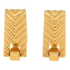 1940's Boucheron Stirrup Cufflinks Set in 18k Yellow Gold