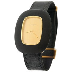 Boucheron 18 Karat and Ebony Wristwatch