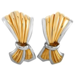 Boucheron 18 Karat Yellow and White Gold Earrings