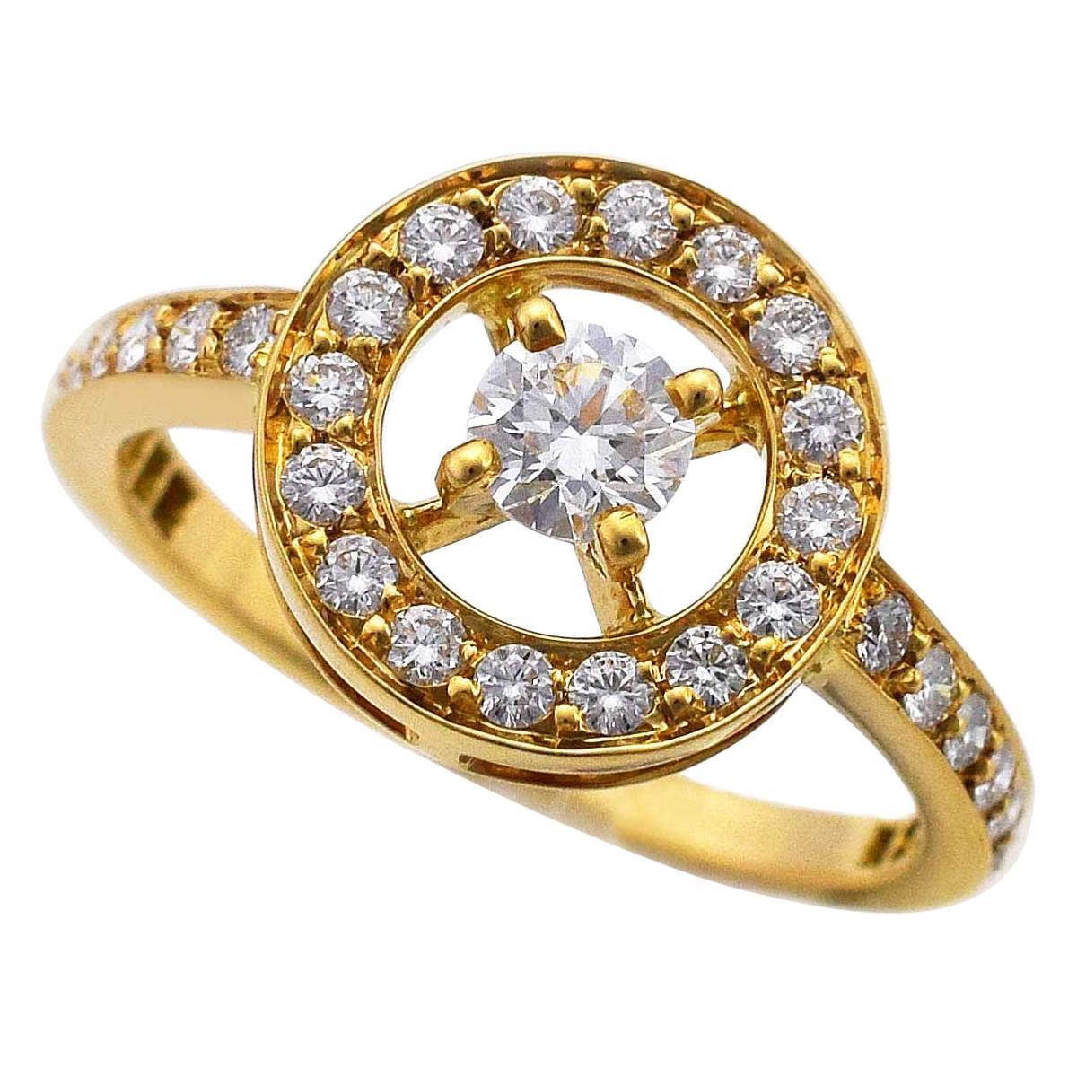 Boucheron 18 Karat Yellow Gold Ava Diamond Ring
