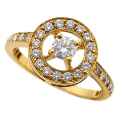 Boucheron 18 Karat Yellow Gold Ava Diamond Ring
