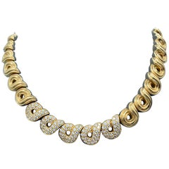 Boucheron 18 Karat Yellow Gold Diamond Necklace