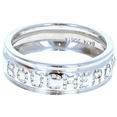Boucheron 18 Karat White Gold and Diamond Ring 6.5g