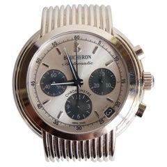 Boucheron 18K White Gold Watch Solis Chrono Automatic Model for Men