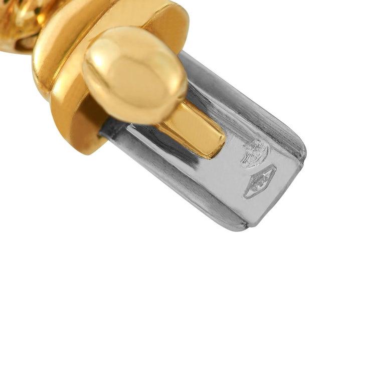 Women's Boucheron 18 Karat Yellow Gold 1.50 Carat Diamond Necklace For Sale