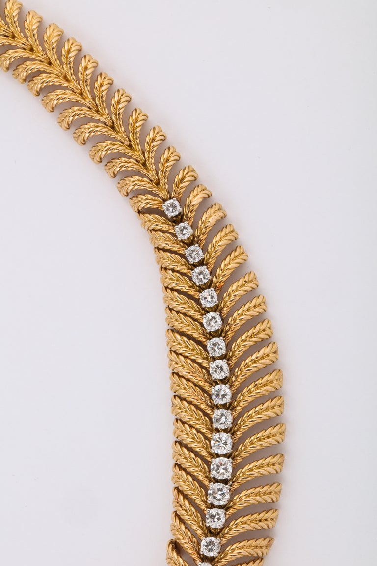 Retro Boucheron 18 Karat Yellow Gold Ruby and Diamond Necklace For Sale