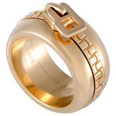 Boucheron 18 Karat Yellow Gold Zipper Band Ring
