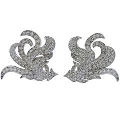 Boucheron 7.50 Carat Diamond Gold Earrings