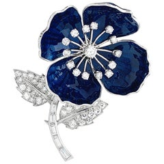 "Boucheron Brooch ""Eglantine"" Collection, Enamel and Diamonds"