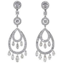 Boucheron Cinna Pampilles Diamond and White Gold Pendant Earrings