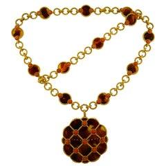 Boucheron Coral Shell Gold Necklace Bracelet Interchangeable, 1970s