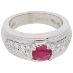 Boucheron Ruby and Diamond Platinum Ring