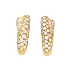 Boucheron Diamond Clip-On Earrings in 18ct Yellow Gold 1.00ct