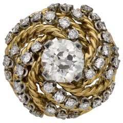 Boucheron Diamond Cocktail Ring, French, circa 1950