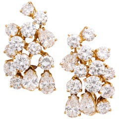 Boucheron Diamond Ear Clips in 18 Karat Yellow Gold