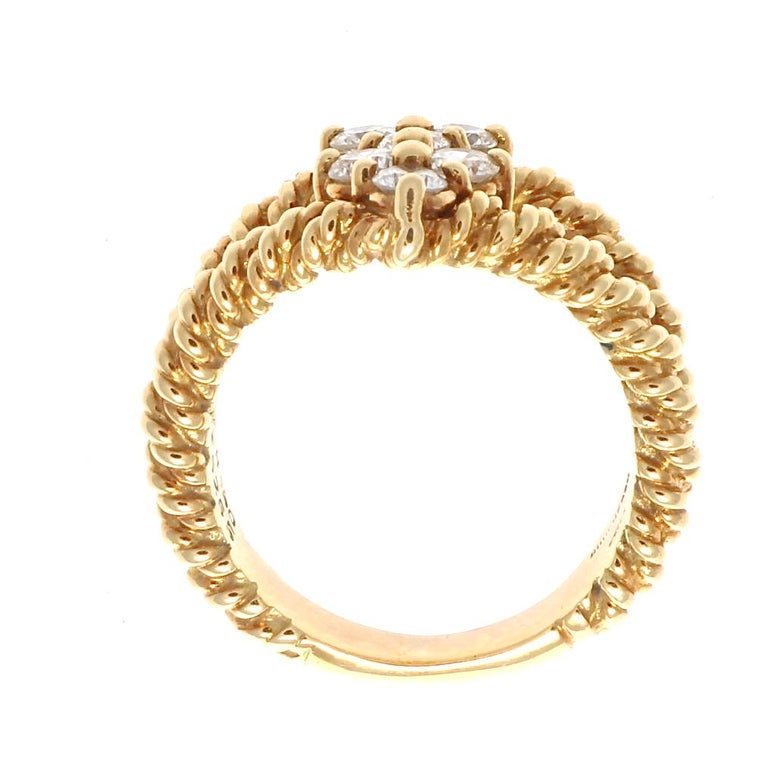 Boucheron Diamond Gold Ring In Excellent Condition For Sale In Beverly Hills, CA